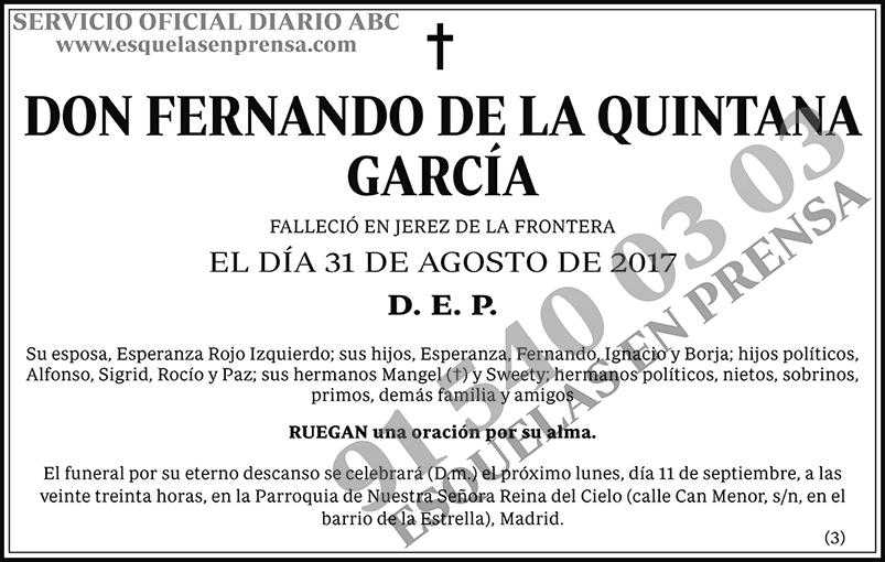 Fernando de la Quintana García